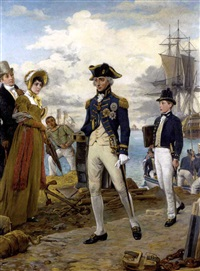 lord nelson returns to england by thomas davidson