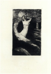 la passante, roman d'une ame, avec frontispice gravure sur cuivre, par odilon redon by adrien remacle