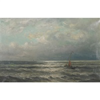 fishing boat at scheveningen by gerard van der laan