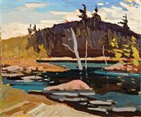 morning, kedge river by arthur george lloy