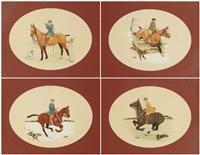 les cavalières (4 works) by etienne le rallic