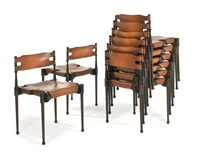 montreal stacking chairs (set of 8) by frei otto