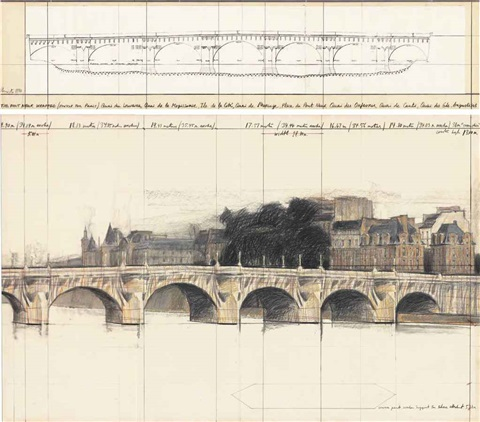 the pont neuf wrapped project for paris 2 works by christo and jeanne claude