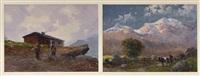 scorci montani (diptych) by leonardo roda