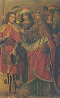 king david endorsing the succession of solomon(?) by jativa master
