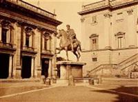 statue de marc aurèle, rome by bisson jeune