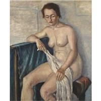 seated nude by nikolai alexandrovich zagrekov