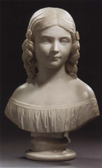 a bust of a young girl by lawrence macdonald