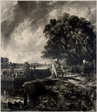 the lock (after john constable) by david lucas