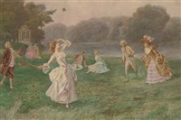 badminton by the river by mario spinetti