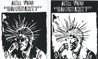 are you different? (positive); are you different? (negative) (in 2 parts) by andy warhol