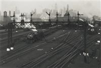 hoboken rail yards, new jersey by berenice abbott