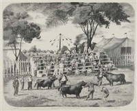 judging the bulls - dutchess county fair by lucile blanch