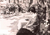resting in the gardens by henri alberti