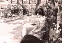 resting in the gardens by henri alberti
