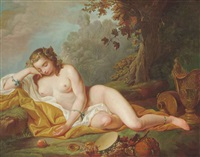 a bacchanalian maiden by françois lemoyne