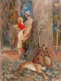 le chasseur en conversation galante by suzanne tourte