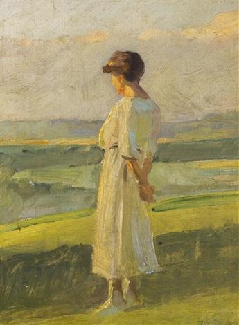 lady in a white dress by frantisek dvorak