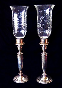 candlesticks (pair) by towle silver