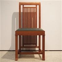 suite de 14 chaises style art-déco, modèle coonley 2 by frank lloyd wright