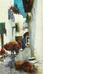 arab street scene by george charles haite