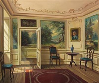 interior with daylight by frederik wilhelm svendsen