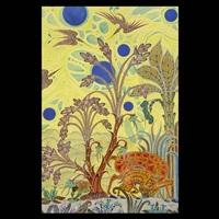 landscape with fantasy animals and birds by jesse allen
