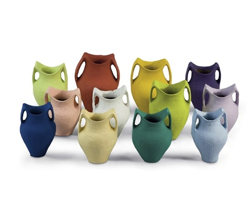 coloured pots in 12 parts by ai weiwei
