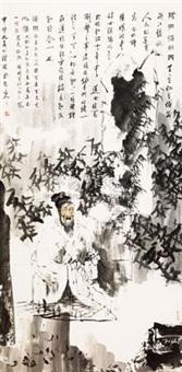 竹林悟禅图 by kong weike