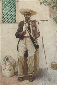a street musician, south america by noel denholm davis