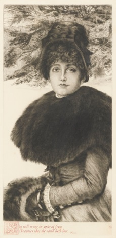 promenade dans la neige by james jacques joseph tissot