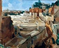 vue d'un village en algérie by alfred figueras