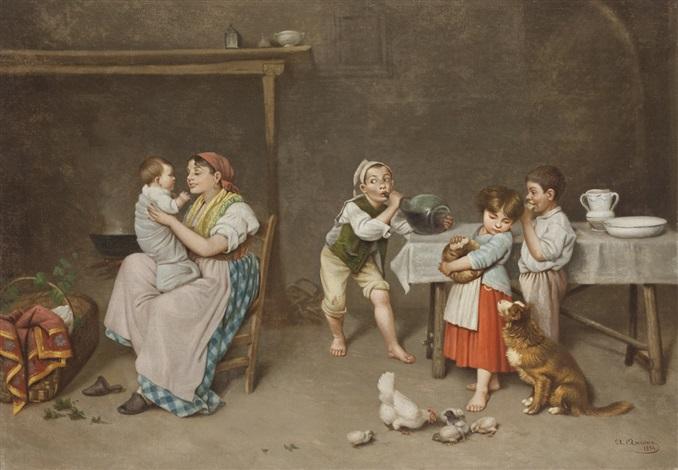 interno con bambini by aniello ascione