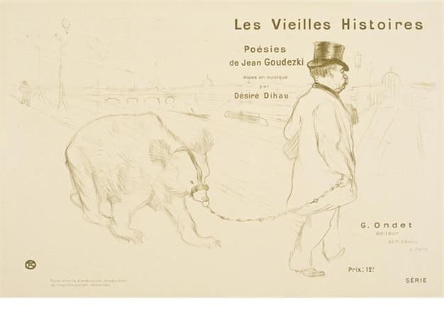 les vielles histories couverture frontispice by henri de toulouse lautrec
