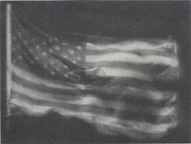 american flag no 7 by zhang huan