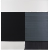 exposed painting light grey/violet by callum innes