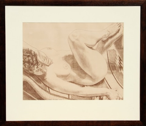 nude on chair by philip pearlstein