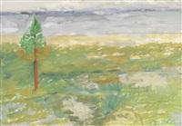 weite landschaft mit baum by vladimir yakovlev