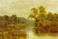 on the thames near cookham by wiggs kinnaird