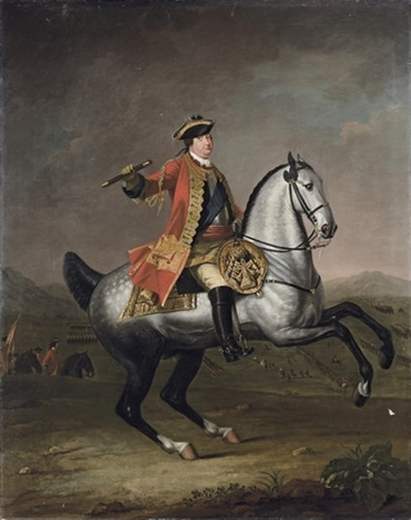 equestrian portrait of prince william augustus duke of cumberland 1721 1765 by david morier