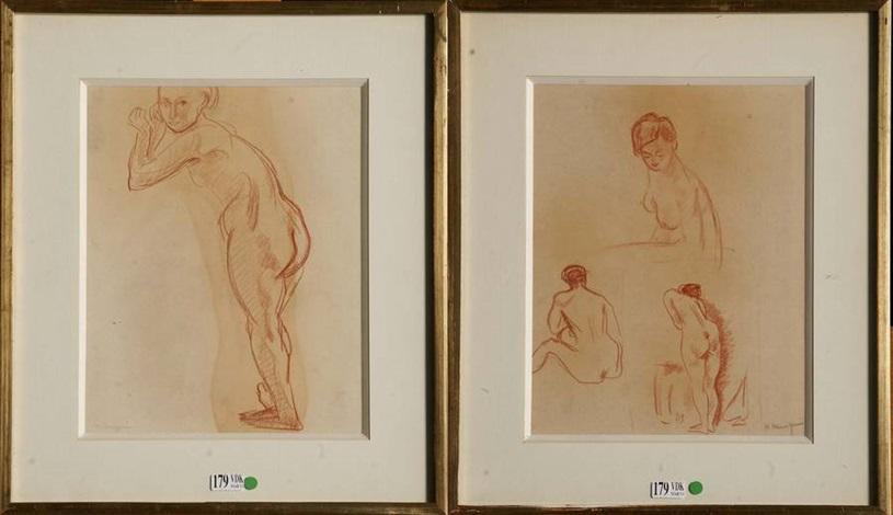 etudes de nus 2 works by henri charles manguin