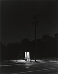 telephone booth, 3 a.m., rahway, new jersey by george tice