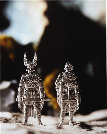 hagan and gunther from the die nibelungen series by david levinthal