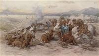 an arab encampment by guido bach