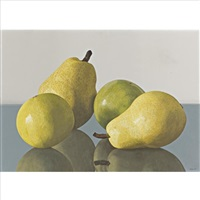 two pears and two sweet limes by renato meziat