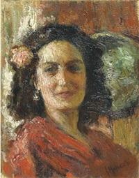 signora in rosso by giuseppe maldarelli