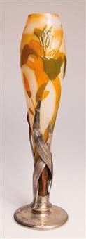 vase mit montierung by verreries d'art lorrain