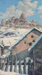 hameau dans les alpes by victor guerrier