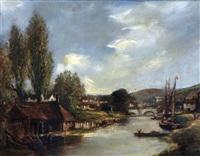 riverside, norwich (near pulls ferry) by arthur edward davies