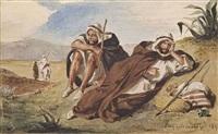 arabes d'oran by eugène delacroix